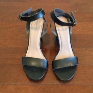 Xhilaration Black Sandals, Size 8